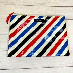 Striped daycation Kate Spade pouch clutch